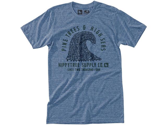 Hippy Tree Pinewave T-shirt Herrer, heather light blue